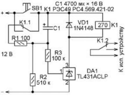 Таймер на микросхеме серии TL431