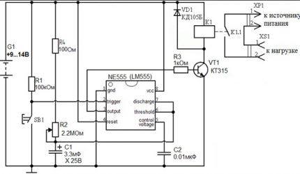 Использование микросхемы NE555