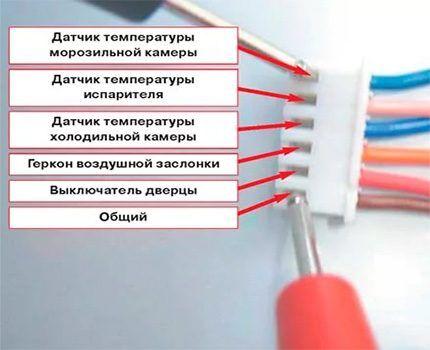 Подключение датчиков холодильника Samsung к плате