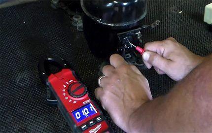Проверка компрессора с применением мультиметра