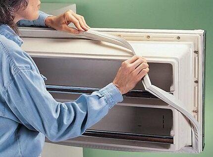 Замена уплотняющего контура на холодильнике