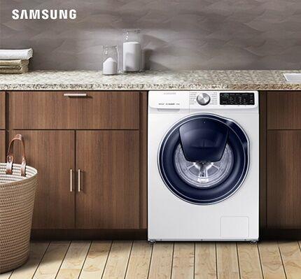 Встроенная стиральная машинка марки Самсунг