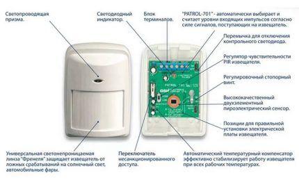 Схема дистанционного выключателя с датчиком