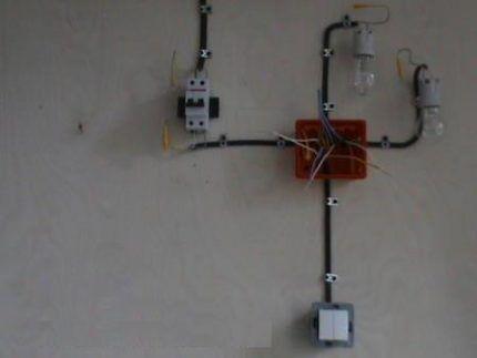 Подключение двойного выключателя