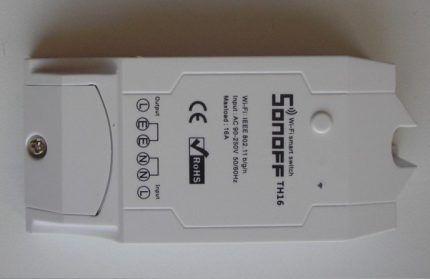 Модель выключателя Sonoff