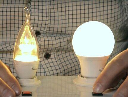 Сравнение комфортности света ламп