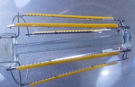 Модель со светодиодными нитями