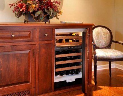 Размещение винного шкафа