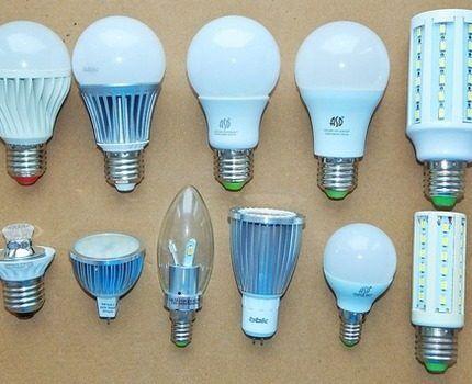 Виды диммируемых ламп