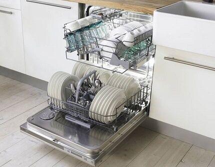 Внутреннее устройство посудомойки Бош
