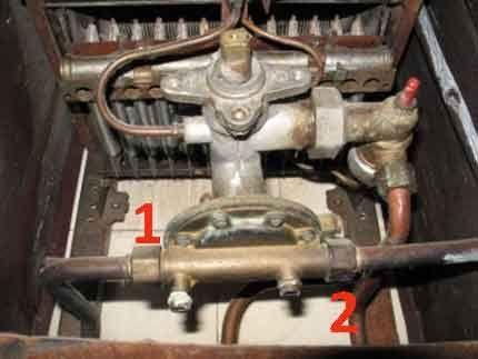 Демонтаж редуктора воды