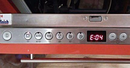 Дисплей посудомоечной машины Бош