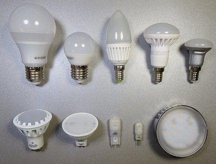 Лед-лампы различной формы