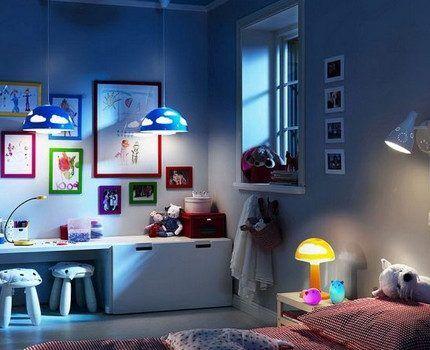Галогеновое освещение в детской комнате
