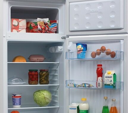 Внутреннее обустройство холодильников Дон