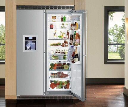 Модель холодильника с распашными дверями