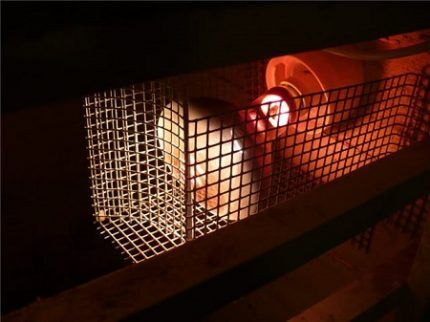 Решетка для инфракрасной лампы