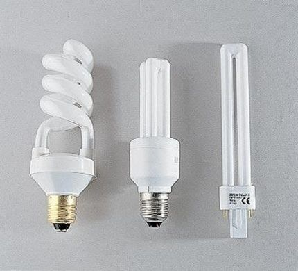 Типы цоколей компактных ламп