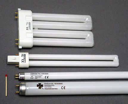 Люминесцентные лампы разных форм