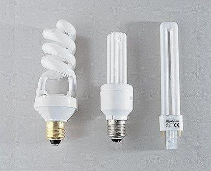 Разновидности компактных люминесцентных ламп