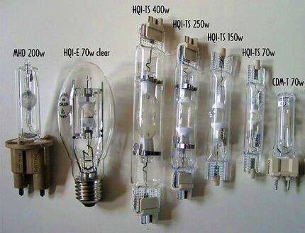 Разновидности металлогалогенных ламп