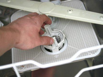 Система фильтров в посудомойках
