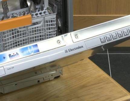 Дизайн посудомойки Электролюкс