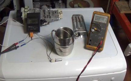 Проверка датчика посудомойки