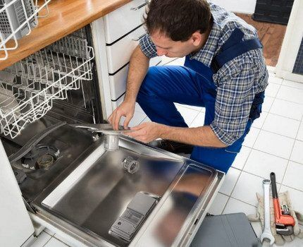 Процесс ремонта посудомойки Бош