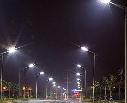 Магистральное освещение ртутными лампами