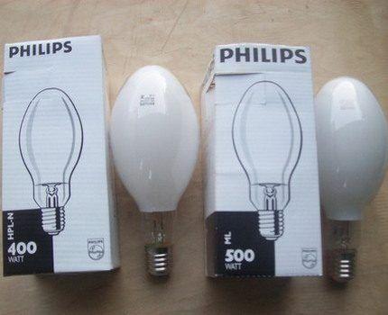 Ртутные лампы Philips