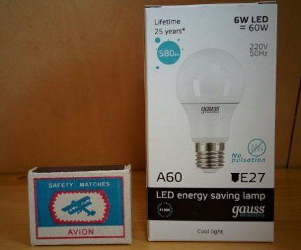 Стоимость ламп Gauss