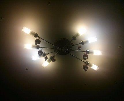 Люстра со светодиодными лампами E27