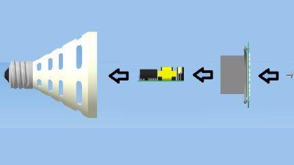Схема сборки светодиода