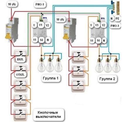 Схема общего включения освещения