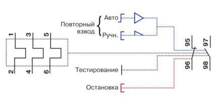 Обозначение элементов реле на схеме