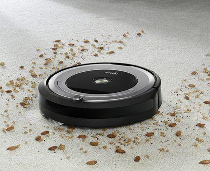 Уборка при помощи робота пылесоса