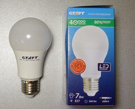 Светодиодная лампа с цоколем E27