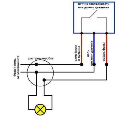 Подключение датчика и маркировка проводов