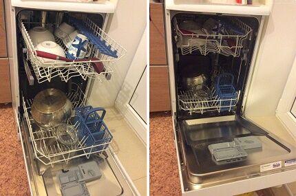 Ограничения по загрузке посуды