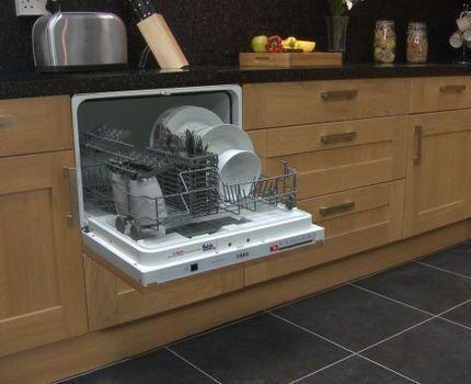 Компактная встраиваемая посудомойка