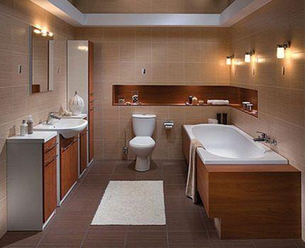 Система освещения в ванной комнате