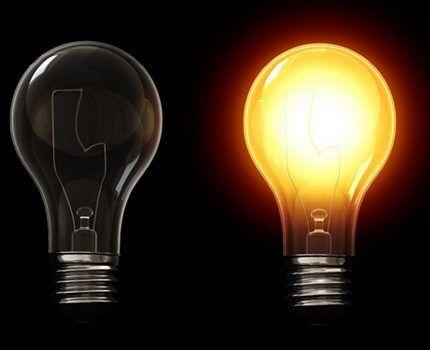 Световой спектр лампы накаливания