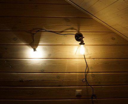 Осветительный прибор на стене