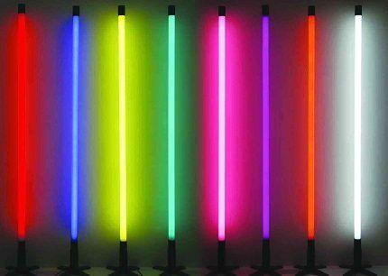 Люминесцентная цветная подсветка