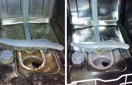 Машинка до и после чистки