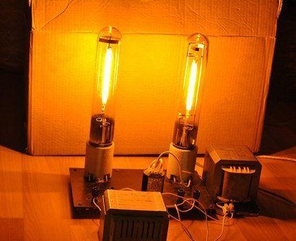 Натриевые лампы в работе