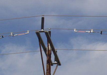 Лампы Бализор на высоковольтной линии