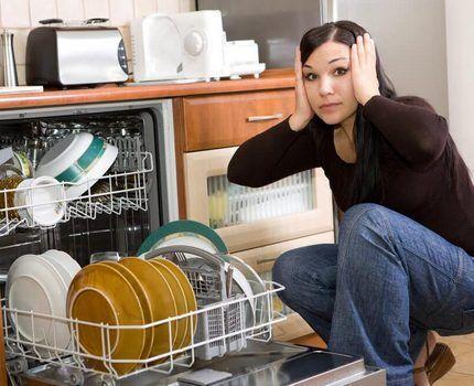 Проблемы с мойкой в посудомоечной машине