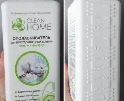Упаковка ополаскивателя Clean Home